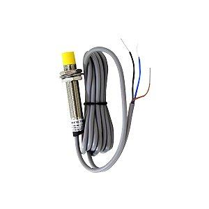 Sensor Indutivo Não Faceado M12 com Cabo PNP NA 6-36Vcc
