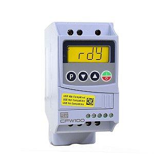 Inversor de Frequência Weg CFW100 Mono 4,2A 1CV 200/240Vca