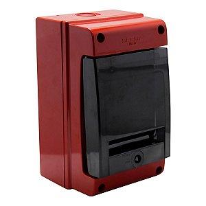 Quadro de Distribuição Scame de Sobrepor 4 DIN IP66 Vermelho