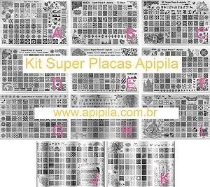 Kit Super Placas Apipila - 11 Super Placas