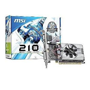 Placa de Vídeo 1GB MSI GT 210 DDR3 64 Bits