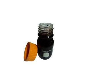 Frasco Reagente de Vidro Boro 3.3 C/ Tampa de Rosca 100ml - Âmbar