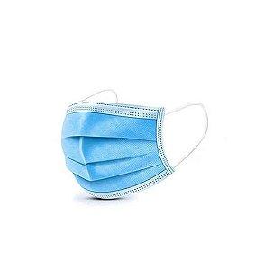 Máscara Cirúrgica Tripla Descartável Com Elástico - C/50 - HQ