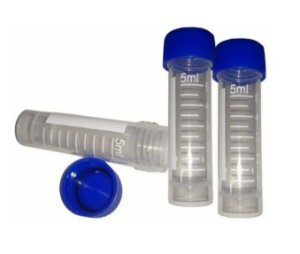 Tubo para congelamento rosca externa graduado 5ml - C/200