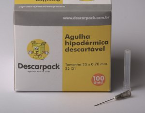 Agulha Hip. Descartável 25x7 - C/100 - Descarpack