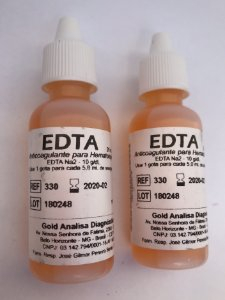 Edta - Anticoagulante Para Hematologia C/02 - Gold Analisa