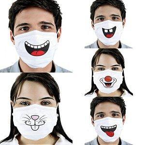 Máscara Variadas Clássicas Cirúrgica Tripla Descartável - Elástico - C/20 - FunWork