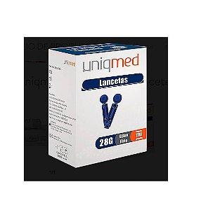 Lanceta Simples 28g (ultra Fina) C/ 100 - Uniqmed