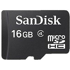 Cartão de Memória 16GB MicroSD Classe 4 - SanDisk