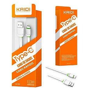 Cabo USB Tipo C 2.4A KD-TC30 - Kaidi