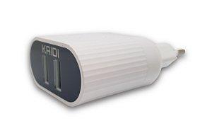Carregador Dual USB 2.4A para iPhone KD-607A - Kaidi