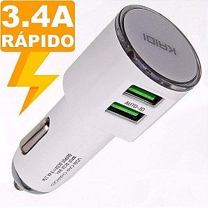Carregador Veicular Dual USB KD-303 - Kaidi