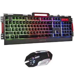 Kit Gamer Teclado e Mouse Semi-Mecânico LED BK-G3000 - Exbom