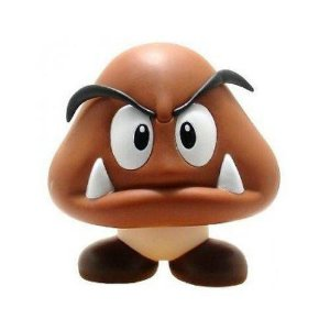 Boneco Goomba PVC 23cm - Super Mario Collection