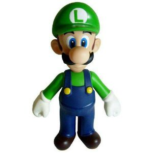 Boneco Luigi PVC 23cm - Super Mario Collection