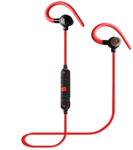 Fone de Ouvido Gancho Bluetooth Sports Turbo Red T-697BL