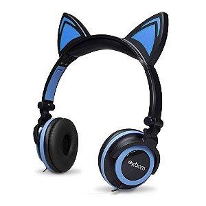 Fone de Ouvido de Gatinho c/ fio HF-C22- Exbom
