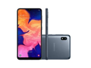 """Smartphone Samsung A10 32GB, A105M/32DL, Dual Chip, Câmera traseira 13MP + 5MP Frontal 8 MP Tela 6.2 """", RAM 2GB - Preto"""