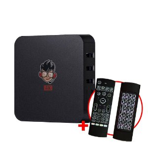Kit TV Box MXQ Pro 4K Android 8.1 + Teclado Air Mouse LED IR