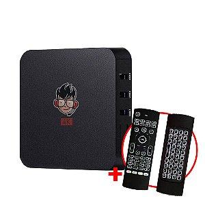 Kit TV Box MXQ Pro 4K Android 8.1 + Teclado Air Mouse LED IR