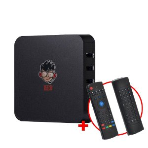 Kit TV Box MXQ Pro 4K Android 8.1 + Teclado Air Mouse