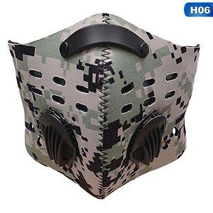 Máscara de proteção reutilizável com filtro de carvão ativado