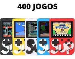 Mini Game Retrô Portatil 400 Jogos Clássicos Anos 80