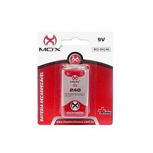 Bateria Recarregável MOX MO-9V 240mAh