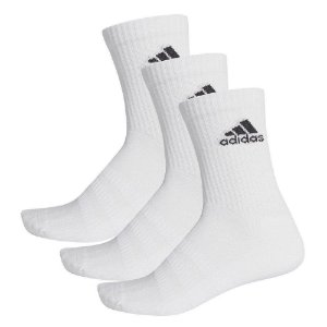 Meias Adidas Cushioned Crew  Cano Médio Kit c/ 3 pares