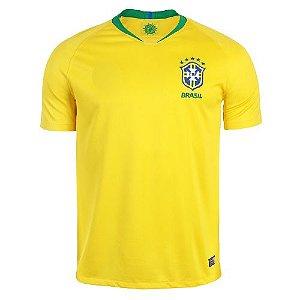 Camisa 10 Neymar SPR Seleção Brasil 2018 Réplica Torcedor Masculina