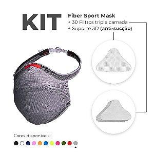 Kit Máscara Proteção Fiber Knit Sport