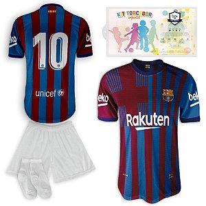 Kit Torcedor Infantil Réplica Barcelona da SPR 2021-22