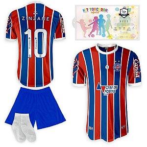 Kit Torcedor Infantil Réplica Esporte Club Bahia da SPR 2021-22