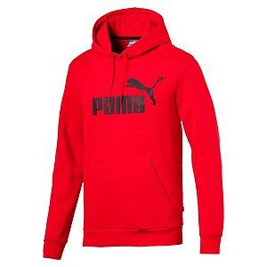 Moleton Puma Ess Hoody Fl Big Logo Masculino