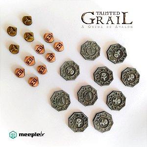 Tainted Grail: A Queda de Avalon – Discos e Marcadores de Metal  (Pré-Venda)