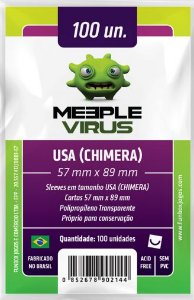 Sleeve USA Chimera 57x89 mm - Meeple Virus