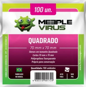 Sleeve Quadrado 70x70 mm - Meeple Virus
