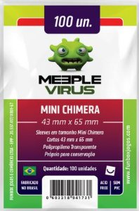 Sleeve Mini Chimera 43x65 mm - Meeple Virus