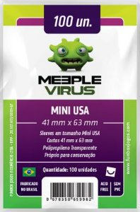 Sleeve Mini USA 41x63 mm - Meeple Virus