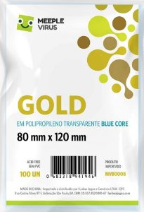 Sleeve Gold 80x120 mm - Blue Core