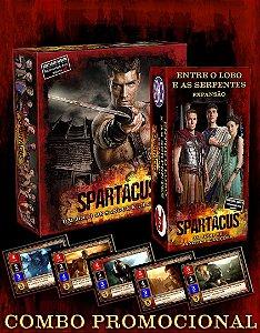 Spartacus - Um Jogo de Sangue e Traições + Promo+Entre o Lobo e as Serpentes
