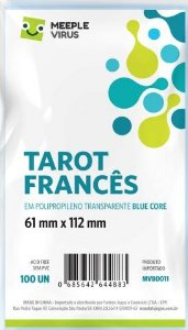Sleeve Tarot Francês 61x112 mm - Blue Core