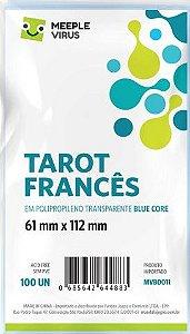 Sleeve Tarot Francês 61x112 mm - Blue Core