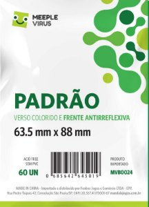 Sleeve Padrão Com Verso VERDE 63,5x88 mm - Blue Core