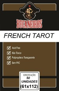 Sleeve French Tarot 61x112 mm - Bucaneiros