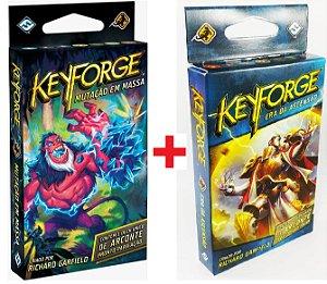 Keyforge Mutação em Massa + Keyforge A Era da Ascensão