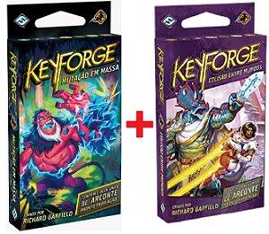 Keyforge Mutação em Massa + Keyforge Colisão Entre Mundos