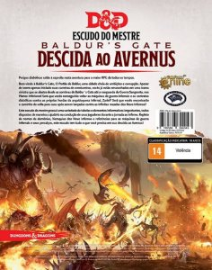 Dungeons and Dragons (5ª Edição) Baldur's Gate Descida ao Avernus - Escudo do Mestre