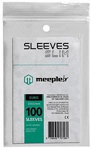 Sleeve Slim Euro 59x92 mm - MeepleBR
