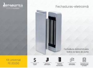 Fechadura Eletroimã Fe20150 Universal Automatiza/intelbras sem sensor
